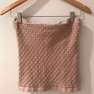 Blush colored free people tube top NWOT